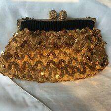 Vintage Walborg Gold Beaded Evening Purse Hand Made in France