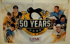 PITTSBURGH PENGUINS 50TH ANNIVERSARY BANNER / FLAG