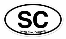 "SC Santa Cruz California Oval car window bumper sticker decal 5"" x 3"""