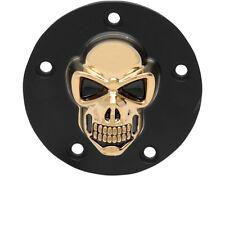 3d Skull Tapa De Encendido Negro - ORO, Para Harley - DAVIDSON TWIN CAM 99 - HOY