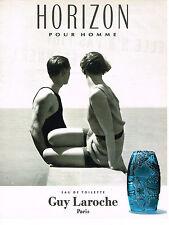 PUBLICITE ADVERTISING   1993   GUY LAROCHE    eau de toilette HORIZON pour homme