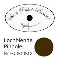 Lochblende 1mm Premium Edelstahlsubstrat für Skink Pinhole Pancake 4x5 5x7 8x10