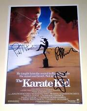 "KARATE KID CAST X3 PP SIGNED 12X8"" POSTER Ralph Macchio"