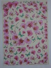 papier découpage technique serviette (thème:papillon, orchidée rose ) 68X48cm