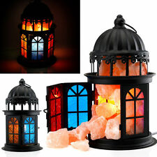 Himalayan Natural Ionic Air Purifier Rock Crystal Salt Lamp Night Light Tower