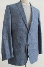 Van Heusen Men's 44 L Blue Paisley Sport Coat Two Button Jacket Blazer New