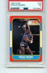 1986-87 FLEER Basketball Gerald Wilkins #122 PSA 7 NM New Cert Nice