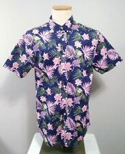 Kronstadt Casual Hawaiian Button down Short Sleeve Floral Aloha Camp Shirt Sz XL