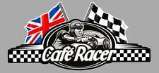 Café Racer  bretagne logo UK  left flag sticker gauche