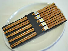 AU Antiskid Durable Classic Handmade Natural Bamboo Chopsticks Gift 5 Pairs 05