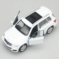 Benz GLK Model Cars Toys 1:36 Open two doors Collection White New Alloy Diecast