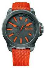 Relojes de pulsera de acero inoxidable de tela/cuero para hombre