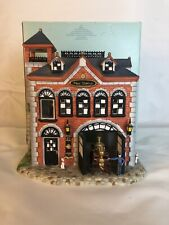 Partylite Olde World Village Tealight House #7 The Fire Station