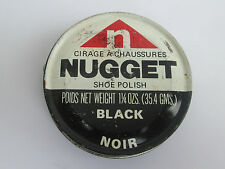 VINTAGE NUGGET SHOE POLISH TIN BLACK