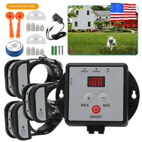 Waterproof In-Ground Electronic 1/2/3 Pet Dog Fence Containment System & Collar