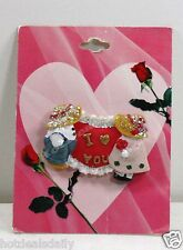 COUNTRY BOY AND GIRL PIN BROOCH I LOVE YOU SPARKLES FARMER HEART