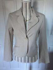 Star City Women's Size Large Striped Ivory Long Sleeve One Button Blazer A-3