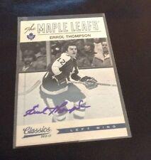 2012-13 Classics Signatures Errol Thompson Autograph Toronto Maple Leafs
