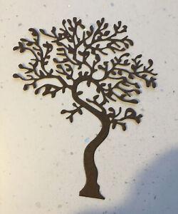 New - Large Twisted Tree Die Cuts - Brown (pack of 4)12.5 X 10 Cm