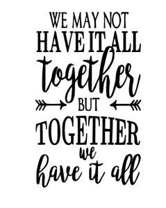 Together - Vinyl decal sticker ONLY BOTTLE NOT INCLUDED - IDEAL FOR WINE BOTTLE