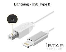 Cable Lightning vers USB Type B Pour iPhone iPad MIDI Keyboard Clavier Traktor