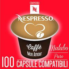 100 CAPSULE CaffeMonAmour  CIALDE CAFFE' ESPRESSO COMPATIBILI NESPRESSO - MALABO