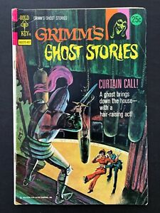 GRIMM'S GHOST STORIES #17 GOLD KEY COMICS 1974 FN/VF MARK JEWELERS INSERT RARE!
