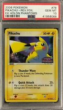 EX Holon Phantoms Pikachu Reverse Foil Holo Pokemon Card Mint PSA 10