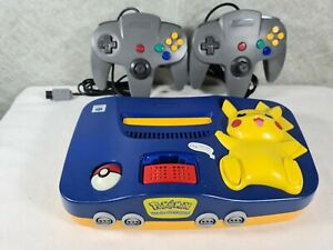 Nintendo 64 Pokemon Pikachu Edition Blue & Yellow Console (PAL) + 15 Games