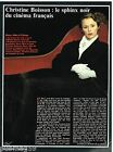 Coupure de presse Clipping 1990 (1 page) Christine Boisson