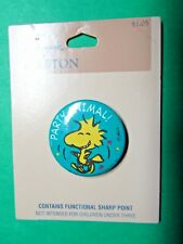 VINTAGE HALLMARK WOODSTOCK PARTY ANIMAL LAPEL BUTTON PIN JF6113 (447x)
