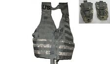 NEW  MOLLE II ACU Fighting Load Carrier VEST w/ 2 Flash Bang Pouches FLC US