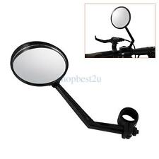 "Durable Black Motorcycle Bicycle 7/8"" 22-25mm Bar End Side Rearview Mirrors SH"