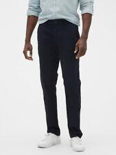 Gap Factory Essential Khakis Slim Fit with GapFlex Pants 34x32 Navy Blue NWT