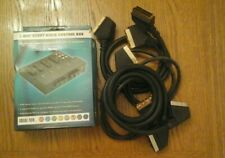 3 Way Scart Video Control Box with 4 Scart Leads