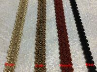 1 MetreX 12mm Braid Gimp Upholstery Soft Furnishing Trimmings - Made in England