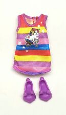 Barbie Chelsea Kelly Doll clothes Unicorn Dress Nightgown Bunny Shoes Slippers