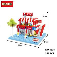 HSANHE Mini Street KFC Fast Food Restaurant Nano Diamond DIY Building Block Toy