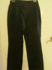 M&S Black Stretchy Comfy Trousers in Size 10 L - L31