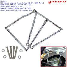 Chrome Saddle Bag Support Bars Mounts Bracket For Honda Magna VF250 / VF750 New
