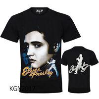 New  Elvis Presley(ROCK STAR) T-Shirt Top Both Side Print SPARKLE GLITTER DESIGN