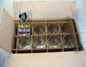 1950's Pittsburgh Pirates  drinking glasses - NOS org box of 8 - exc cond  rare