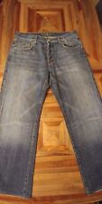 7 FOR ALL MANKIND Relaxed Fit Buttonfly Men's Blue Jeans - Size 32x28
