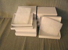 "12 Small Jewelry Boxes w/ padding inside Od 5 1/2"" X 4"" Id 3 7/8"" X 5 3/8"""