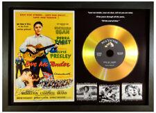 ELVIS PRESLEY 'LOVE ME TENDER' SIGNED GOLD DISC COLLECTABLE MEMORABILIA GIFT BLK
