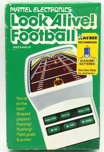Mattel Look Alive Football vintage LED handheld electronic game, boxed