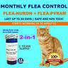 2-in-1 1 Year Supply MONTHLY Flea Control CATS 2-20 Lbs. 205Mg+12Mg 12 Capsules