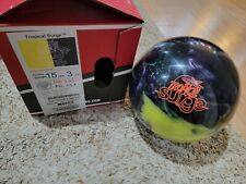 "Storm Tropical Surge Yellow/Black 1st Quality Bowling Ball 15 Pounds 3.5-4"" Pin"
