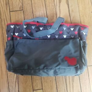 Disney Mickey Mouse Diaper Bag with Wipe Bag Large Compartments