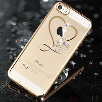 Bling Glitter Crystal Diamond Rubber Soft Back Case Cover for iPhone 7 Plus 8 6s